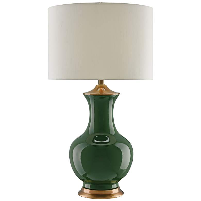 Currey and Company Lilou Green Ceramic Table Lamp