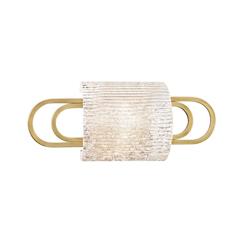 """Hudson Valley Buckley 12 3/4"""" Wide Aged Brass Wall Sconce"""