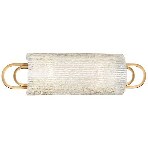 "Hudson Valley Buckley 18"" Wide Aged Brass Bath Light"