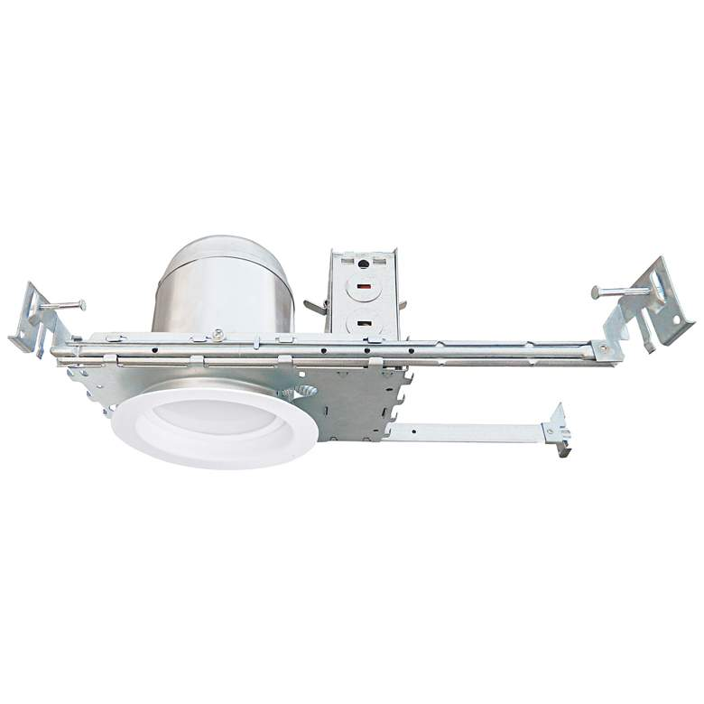 "4"" White Baffle New Construction 10W LED Complete Trim Kit"