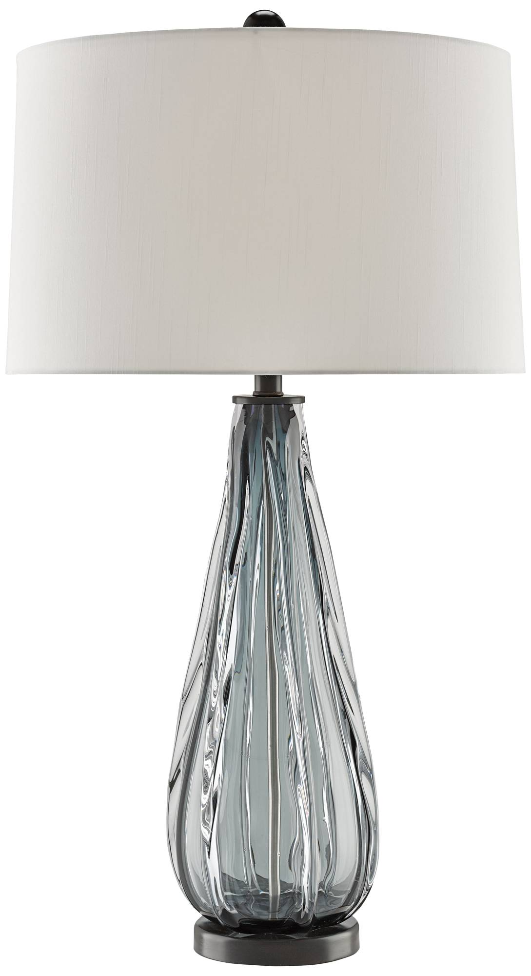 Currey and company nightcap blue gray glass table lamp 9r026 lamps plus