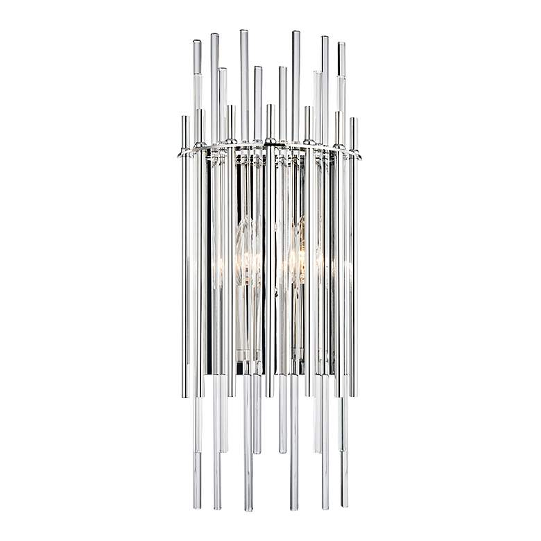 """Hudson Valley Wallis 19 3/4""""H Polished Nickel Wall Sconce"""