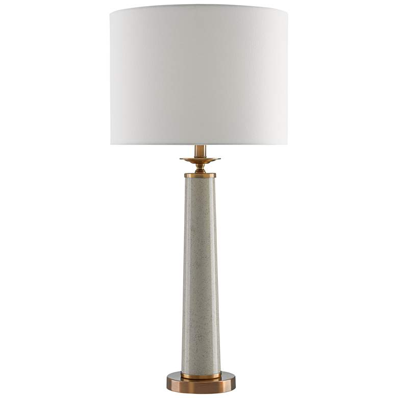 Currey and Company Rhyme Speckled Gray Table Lamp