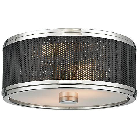 """Hudson Valley Fraser 11"""" Wide Polished Nickel Ceiling Light"""