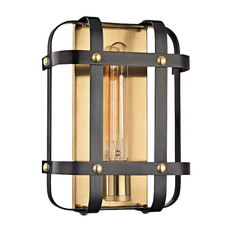 """Colchester 11 1/2"""" High Aged Old Bronze Wall Sconce"""