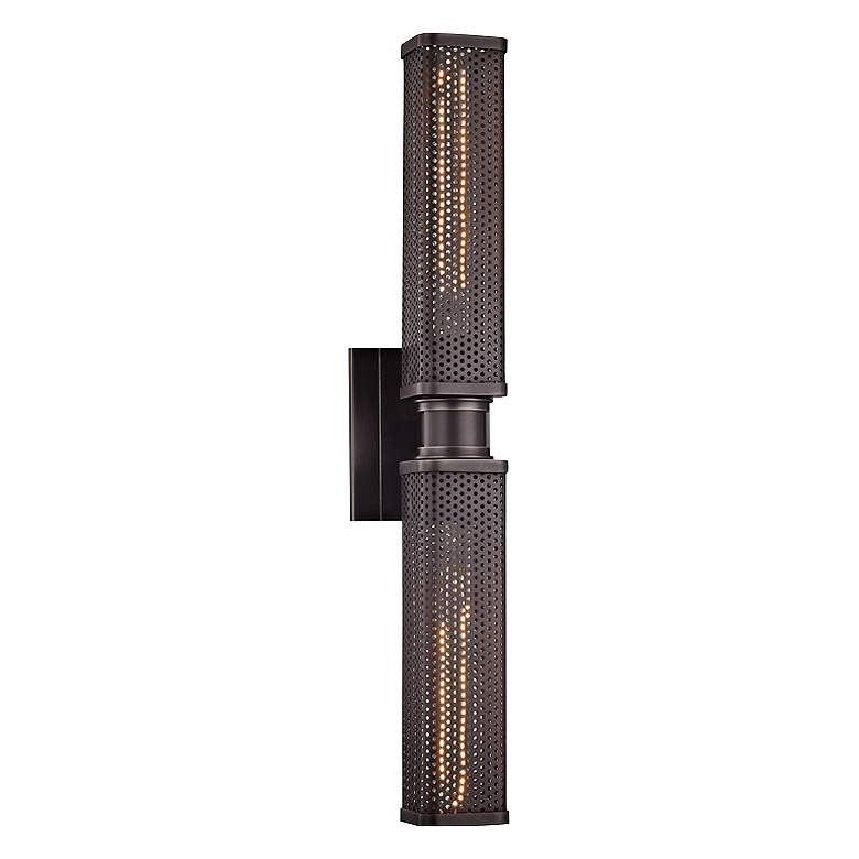 "Hudson Valley Gibbs 22 1/4"" High Old Bronze Wall Sconce"