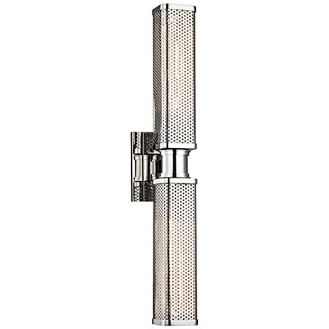 "Hudson Valley Gibbs 22 1/4""H Polished Nickel Wall Sconce"