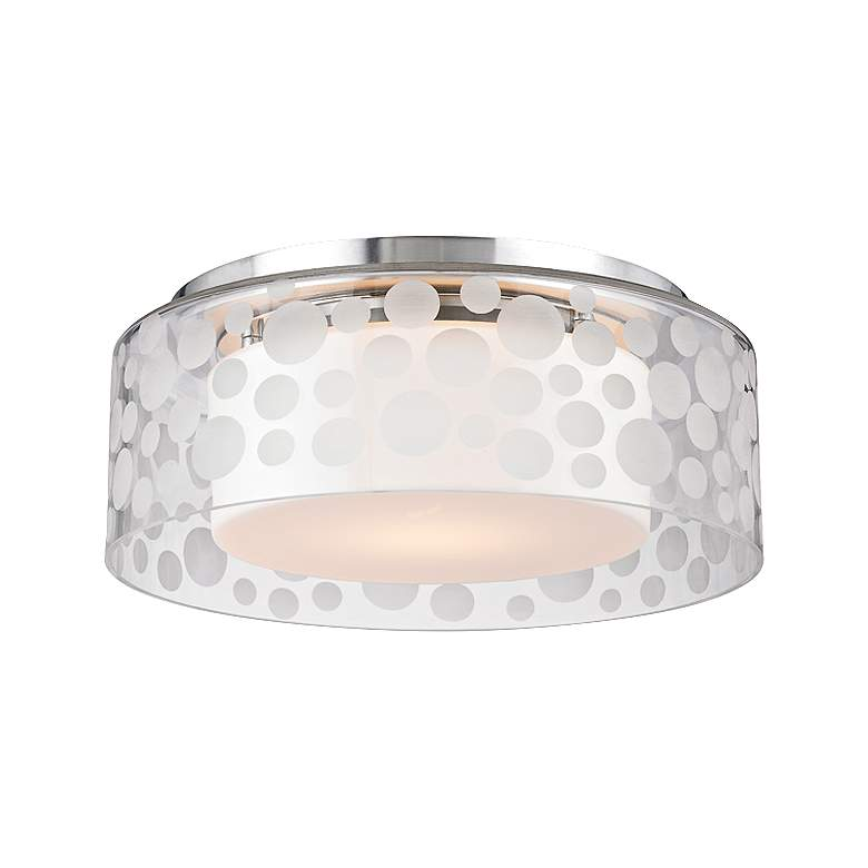 """Hudson Valley Carter 11""""W Satin Aluminum LED Ceiling Light"""