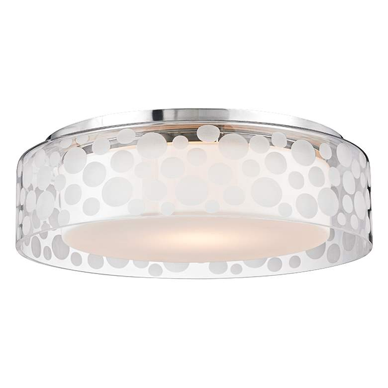 "Hudson Valley Carter 15""W Satin Aluminum LED Ceiling"