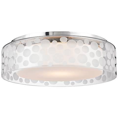"""Hudson Valley Carter 15""""W Satin Aluminum LED Ceiling Light"""