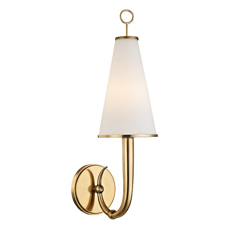 """Hudson Valley Colden 21"""" High Aged Brass Wall Sconce"""