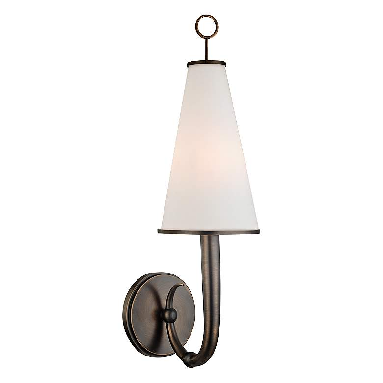"Hudson Valley Colden 21"" High Distressed Bronze Wall Sconce"