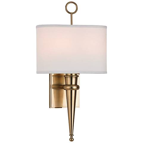 "Hudson Valley Harmony 18 3/4"" High Aged Brass Wall Sconce"