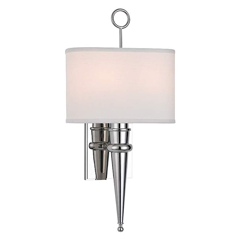 """Hudson Valley Harmony 18 3/4""""H Polished Nickel Wall Sconce"""