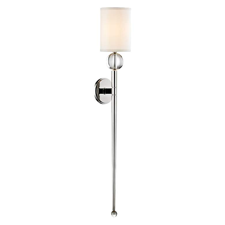 """Hudson Valley Rockland 37"""" High Polished Nickel Wall Sconce"""