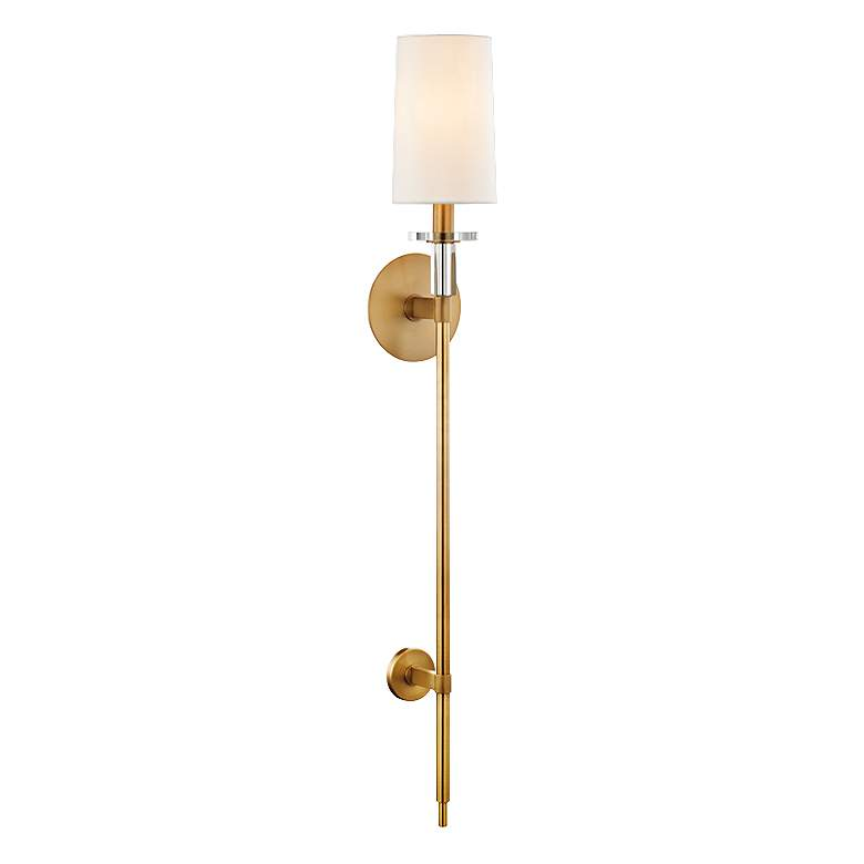 "Hudson Valley Amherst 36 1/2"" High Aged Brass Wall Sconce"