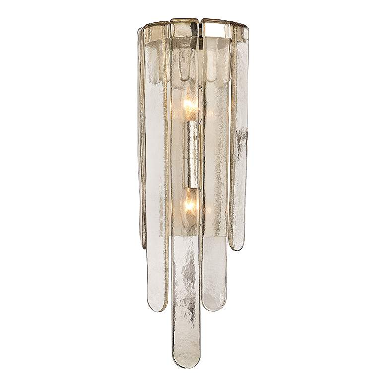 "Hudson Valley Fenwater 23 1/2""H Polished Nickel Wall Sconce"