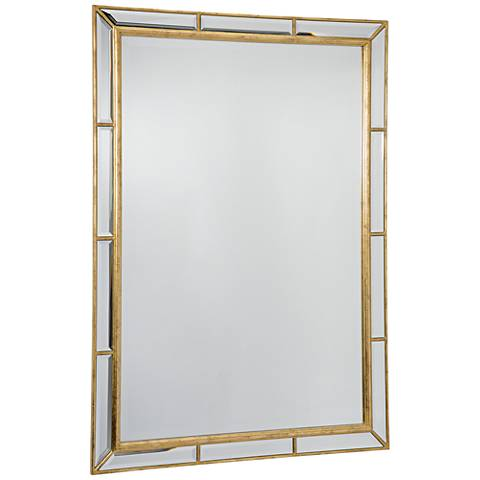 """Regina Andrew Design Plaza Gold Leaf 29""""x41"""" Mirror"""