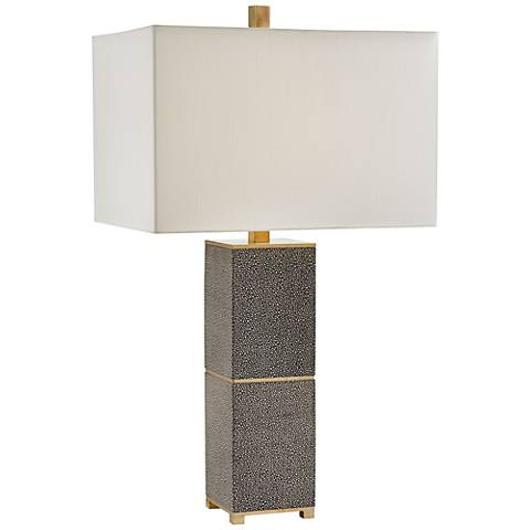 Currey and Company Beauchamp Gray Wood Table Lamp
