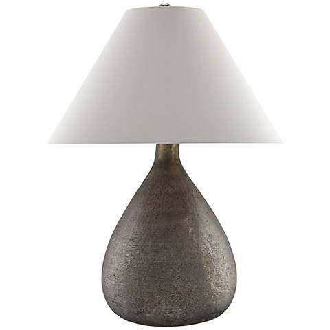 Currey and Company Lulworth Gray Mercury Glass Table Lamp