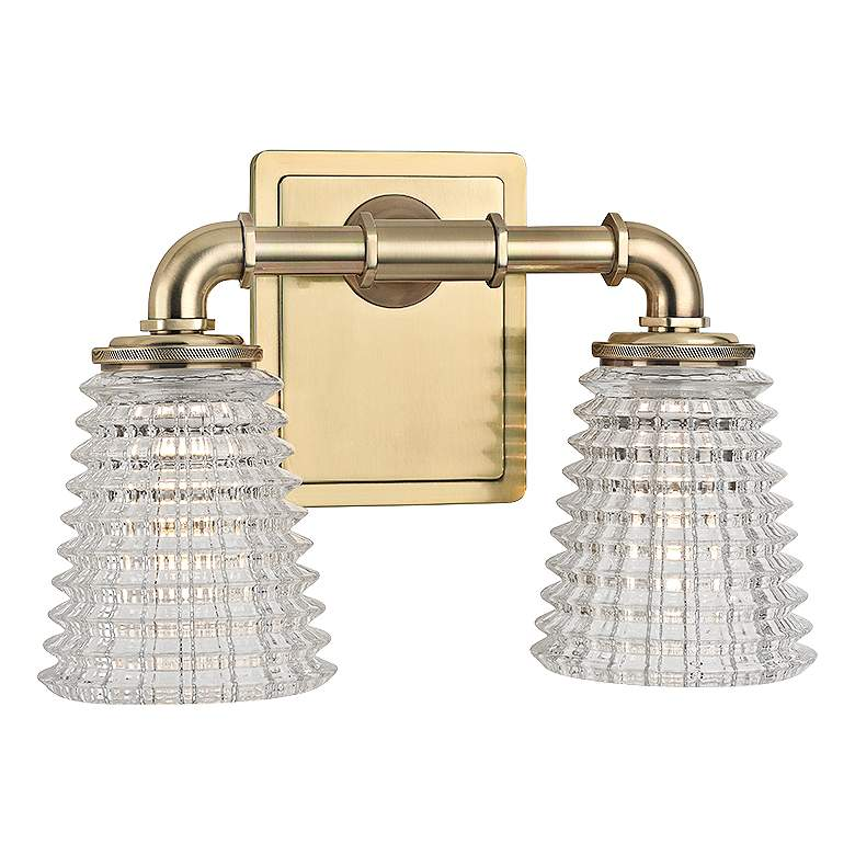 "Hudson Valley Westbrook 12"" Wide Aged Brass Bath Light"