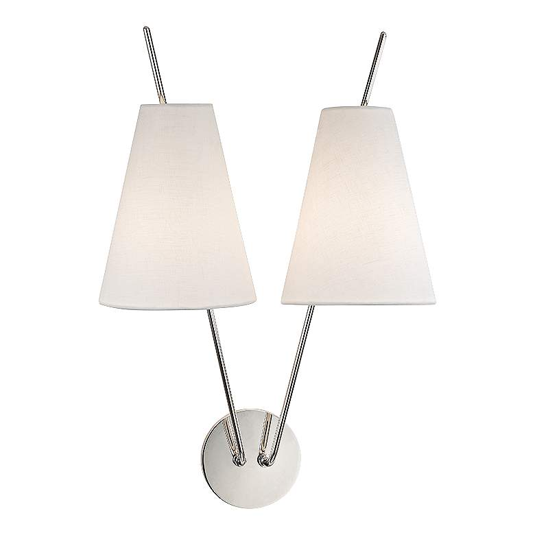 """Hudson Valley Milan 22"""" High Polished Nickel Wall Sconce"""