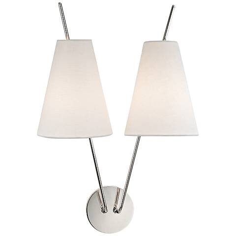 "Hudson Valley Milan 22"" High Polished Nickel Wall Sconce"