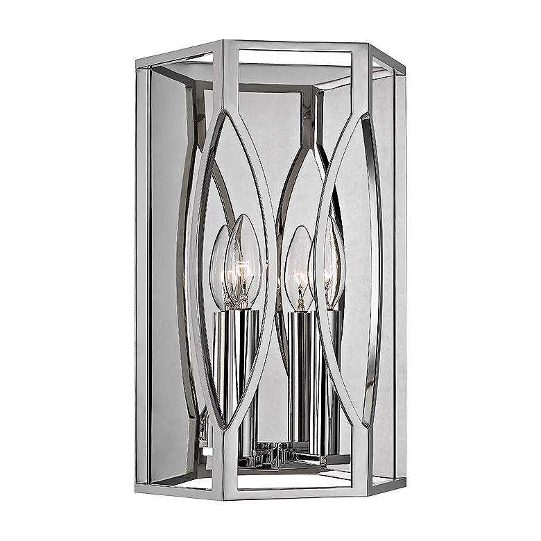 """Hudson Valley Roswell 14"""" High Polished Nickel Wall Sconce"""