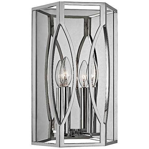 "Hudson Valley Roswell 14"" High Polished Nickel Wall Sconce"