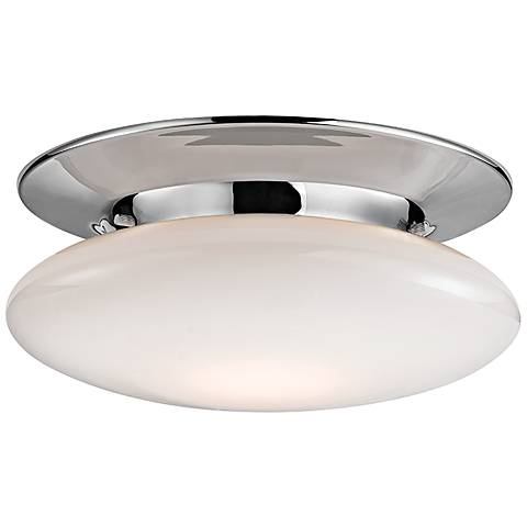 "Irvington 12"" Wide Polished Chrome LED Ceiling Light"