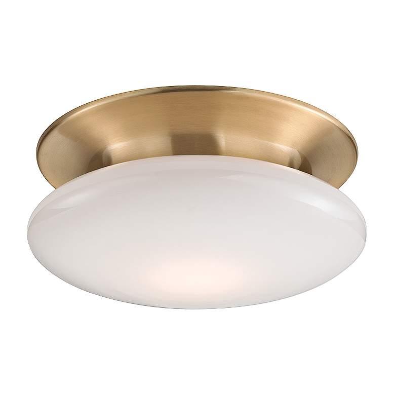 """Hudson Valley Irvington 12""""W Satin Brass LED Ceiling"""