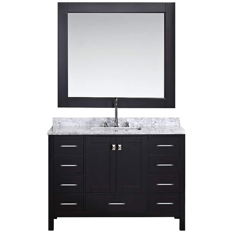 """London 48"""" Marble Espresso 9-Drawer Single Sink Vanity"""
