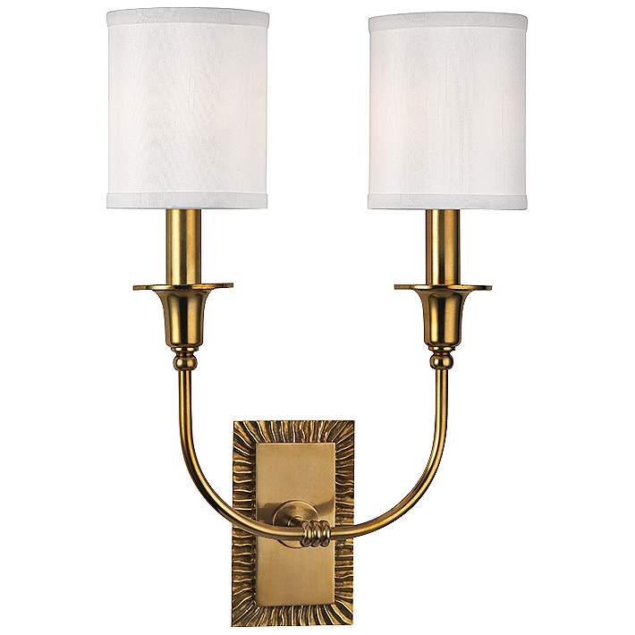 Aged Br Dual Wall Sconce
