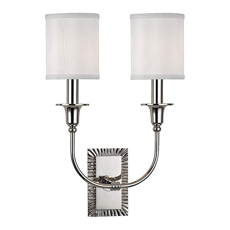 "Dover 17 3/4"" High Polished Nickel Dual Wall"