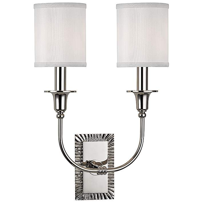 High Polished Nickel Dual Wall Sconce