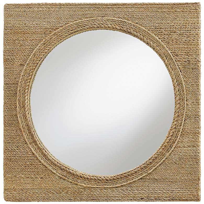 "Currey and Company Tisbury Abaca 20"" Square Wall Mirror"