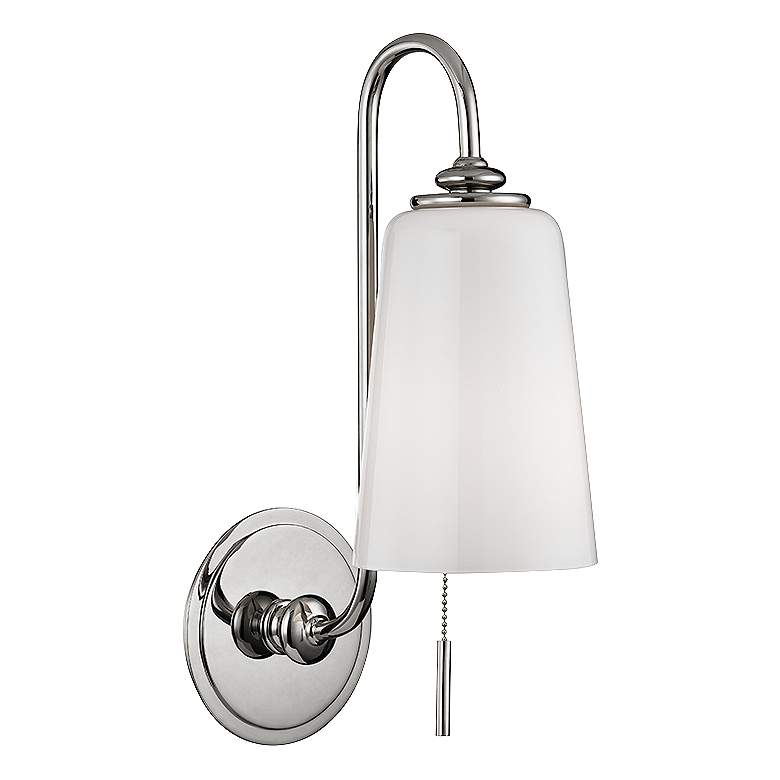 """Hudson Valley Glover 16"""" High Polished Nickel Wall Sconce"""