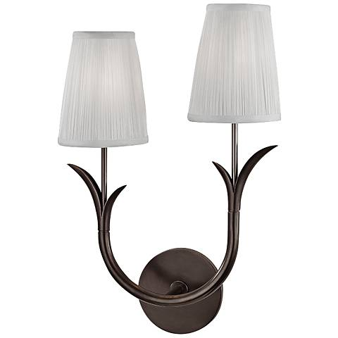 """Deering 17 3/4"""" High Old Bronze Left Dual Wall Sconce"""