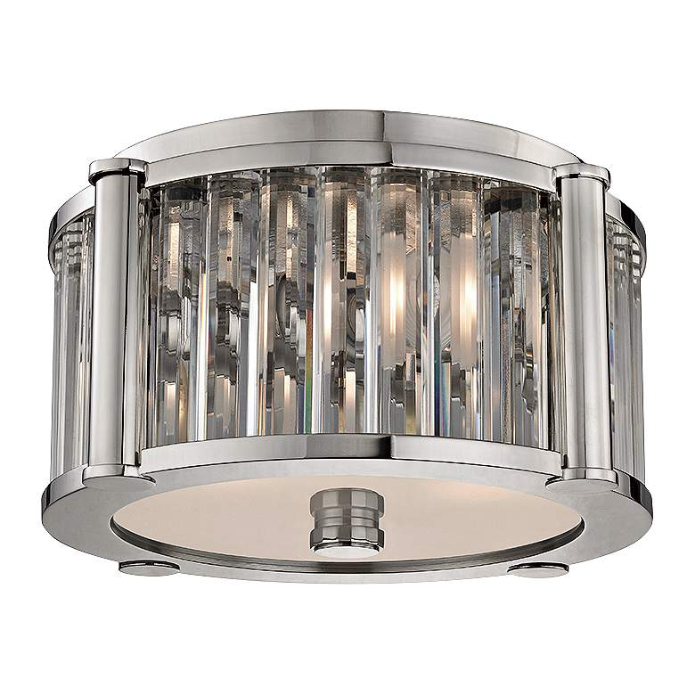 "Hartland 11 3/4"" Wide Polished Nickel Ceiling Light"