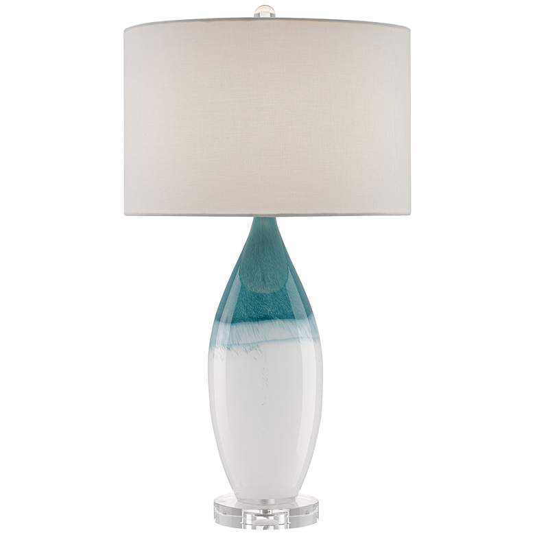 Currey and Company Julien White Glass Table Lamp