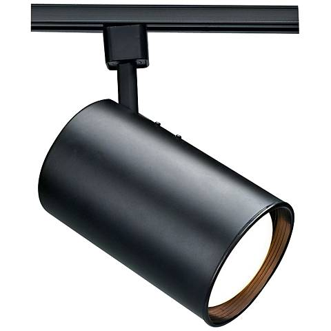 Nuvo Lighting 120V Black R30 Straight Cylinder Track Head