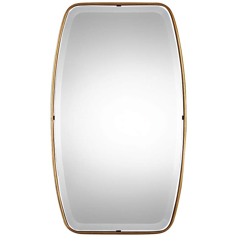 """Uttermost Canillo Gold 21"""" x 36"""" Floating Wall Mirror"""