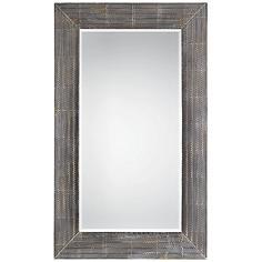 """Frazer Stone Wash 36 x 58"""" Full Length Steel Wall Mirror"""