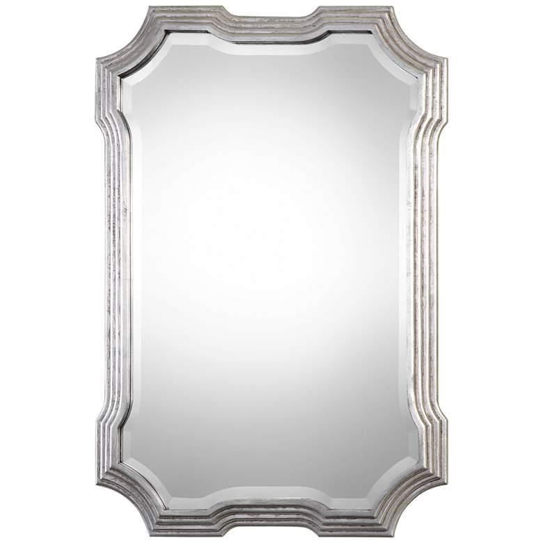 """Uttermost Halima Silver Leaf 27"""" x 40"""" Wall Mirror"""