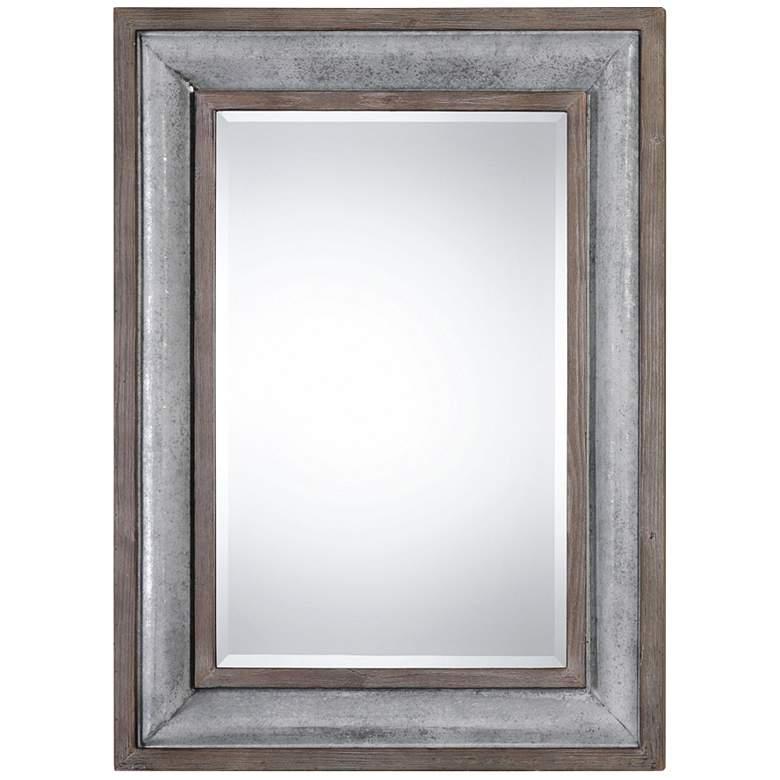"""Uttermost Selden Galvanized Steel 33"""" x 45"""" Wall Mirror"""