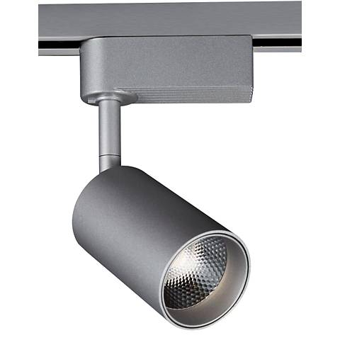 "Silver 3 1/2""W Dimmable 8W LED Lightolier Track Head"