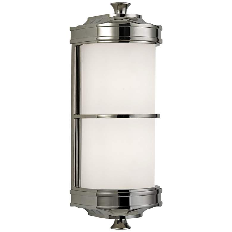 """Hudson Valley Albany 13"""" High Polished Nickel Wall Sconce"""