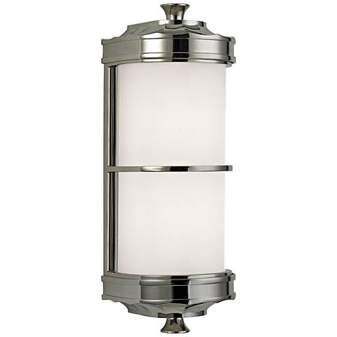 "Hudson Valley Albany 13"" High Polished Nickel Wall Sconce"
