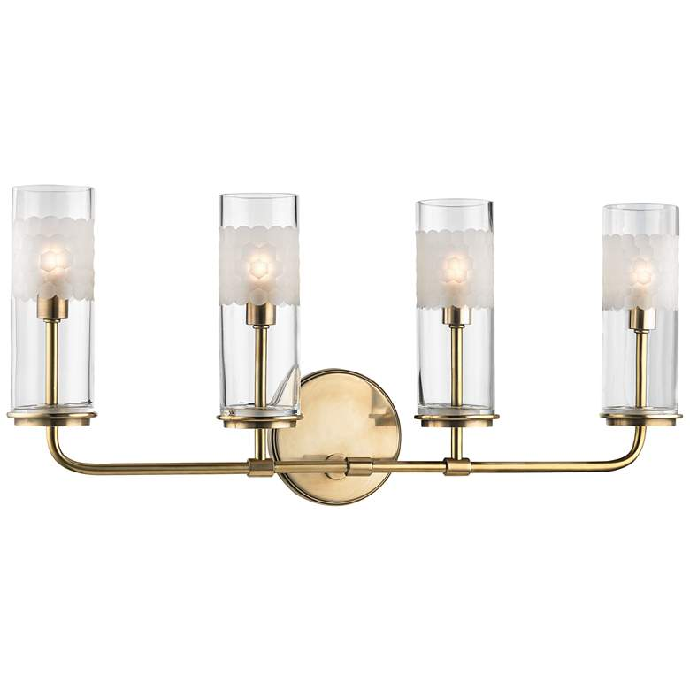 """Wentworth 10 1/4"""" High Aged Brass 4-Light Wall Sconce"""