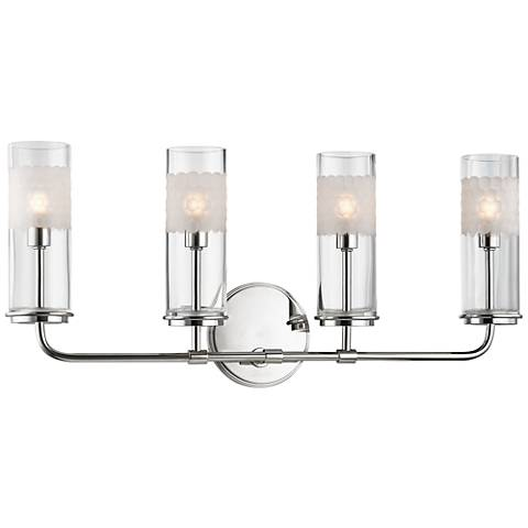 "Wentworth 10 1/4"" High Polished Nickel 4-Light Wall Sconce"